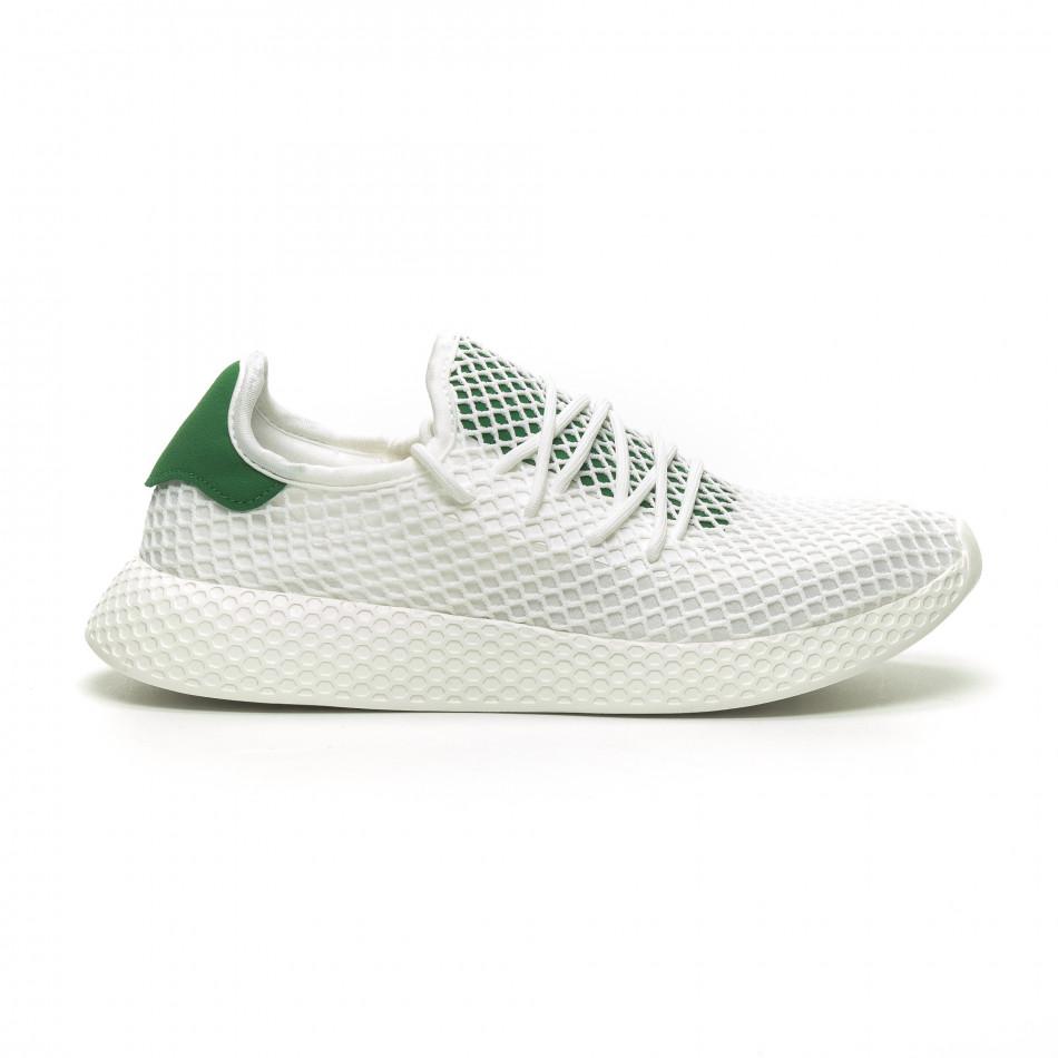 Ανδρικά λευκά αθλητικά παπούτσια Kiss GoGo it230519-7