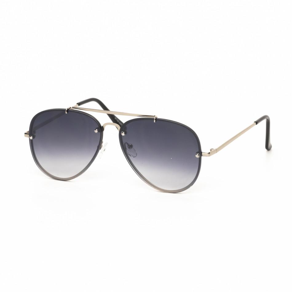 Ανδρικά μαύρα γυαλιά ηλίου πιλότου it030519-13