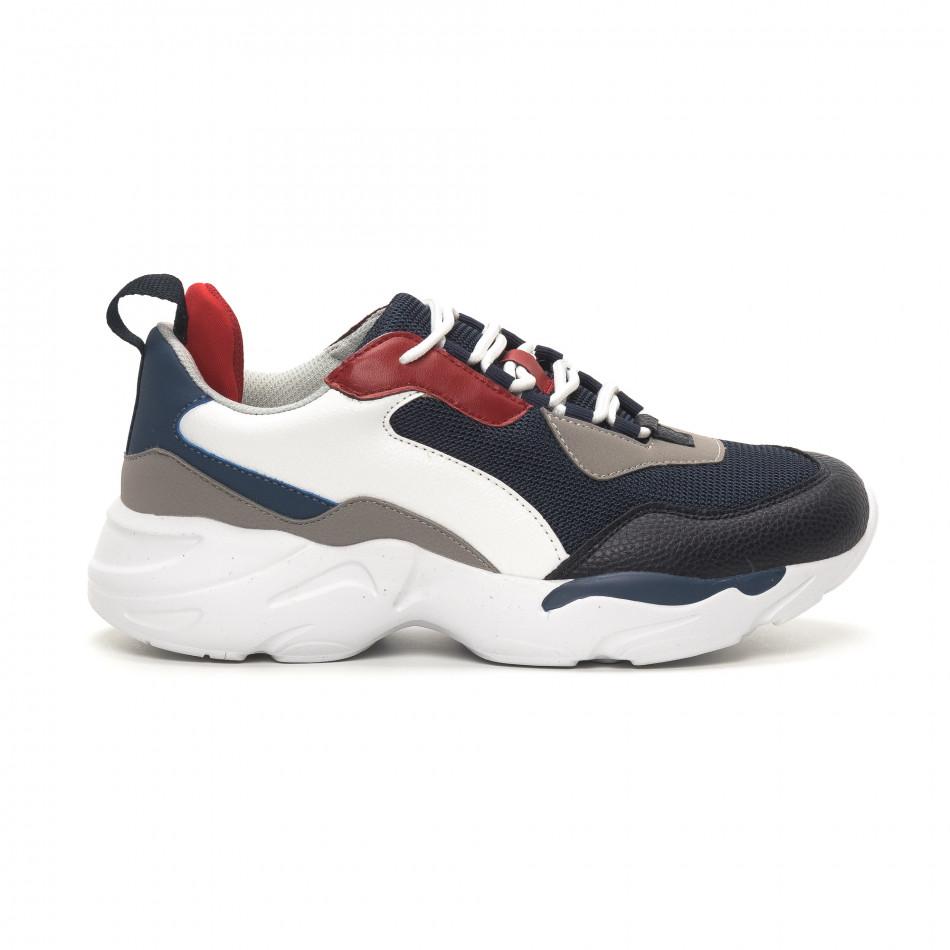 Ανδρικά μπλε αθλητικά παπούτσια Chunky it150419-118