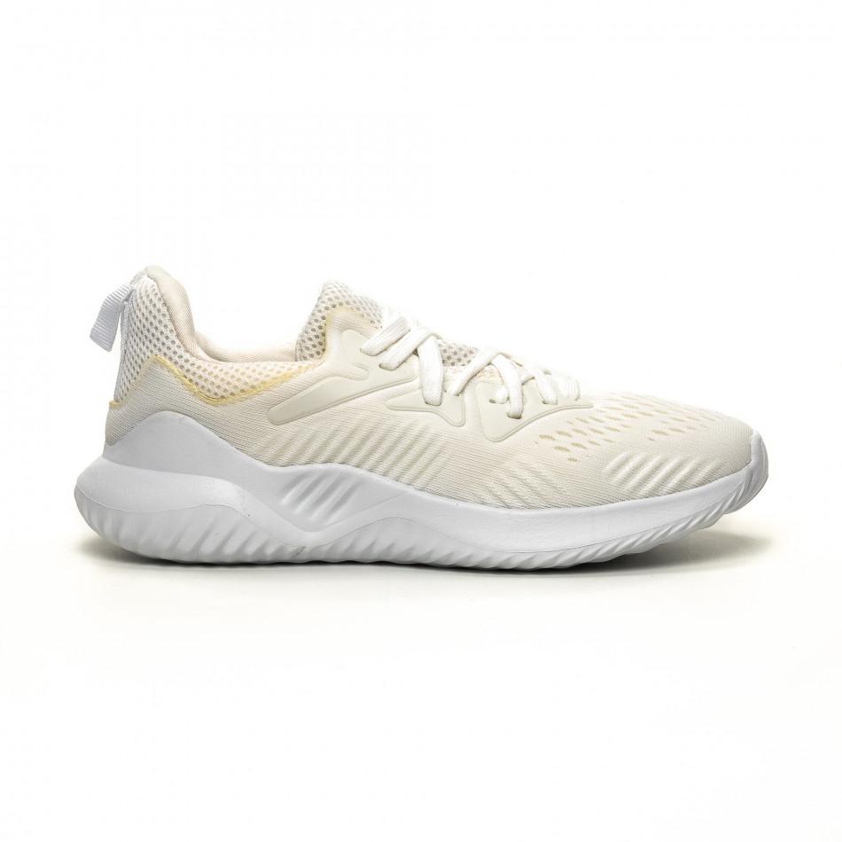 Ανδρικά λευκά αθλητικά παπούτσια FM it200619-2