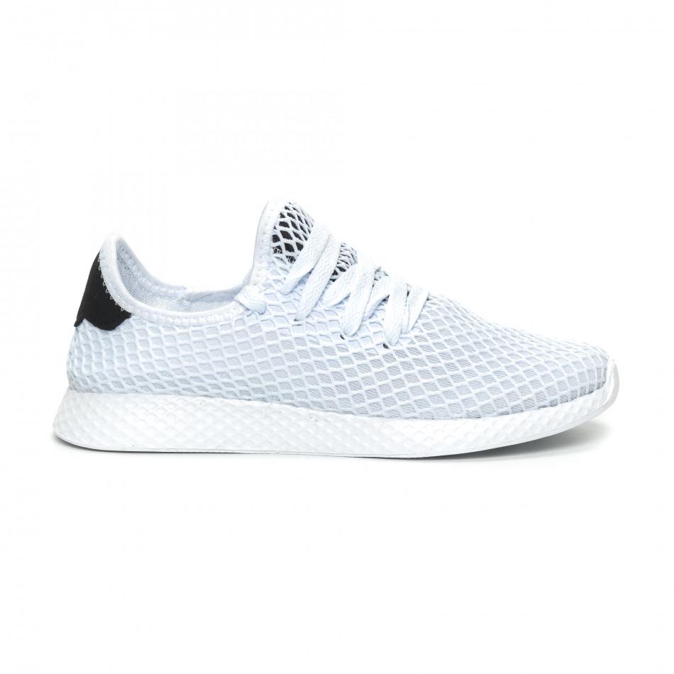 Γυναικεία λευκά sneakers Mesh ελαφρύ μοντέλο it150319-35