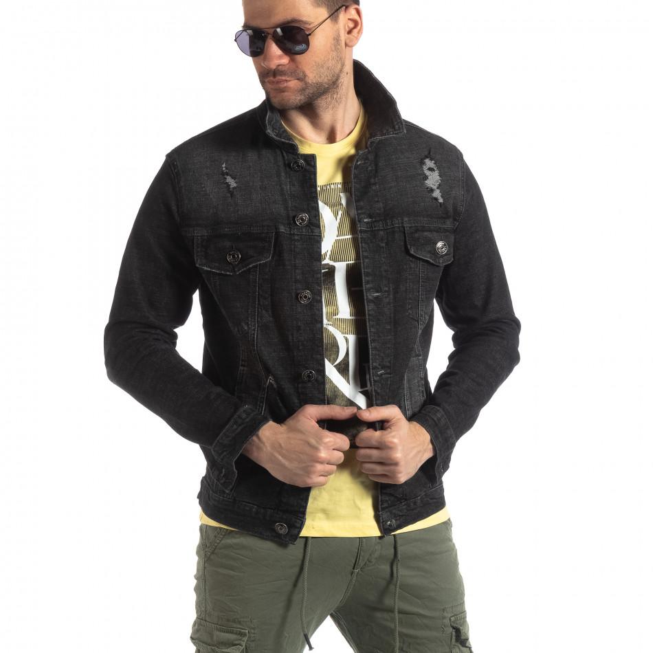 Ανδρικό μαύρο ανοιξιάτικο-φθινοπωρινό μπουφάν Justboy it210319-108