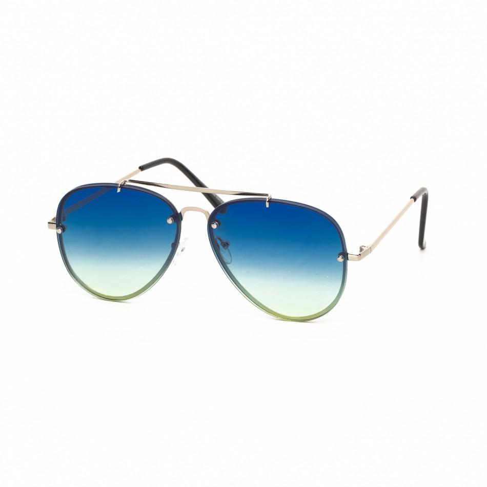 Ανδρικά μπλε γυαλιά ηλίου πιλότου it030519-14