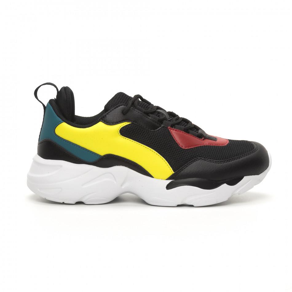 Ανδρικά μαύρα αθλητικά παπούτσια Chunky it150419-116