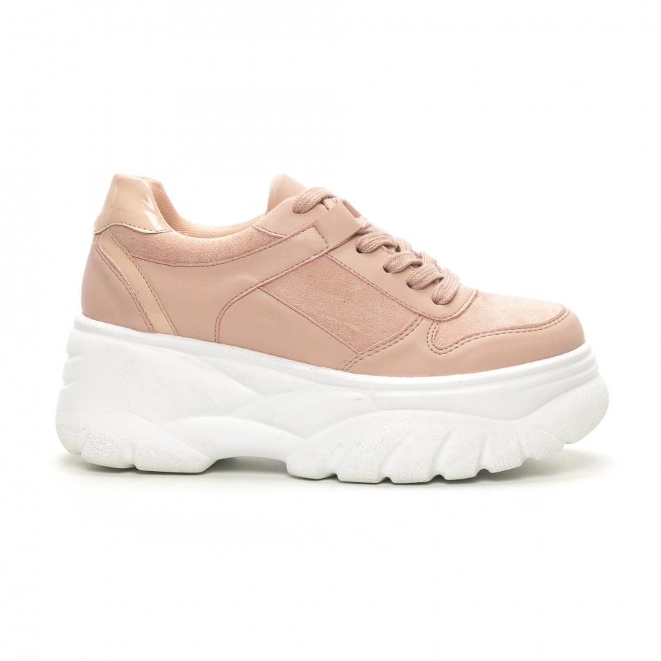 Γυναικεία ροζ sneakers Chunky it150419-121