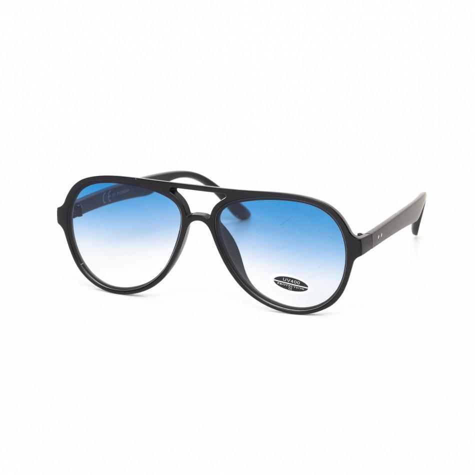 Ανδρικά γαλάζια γυαλιά ηλίου πιλότου it030519-30