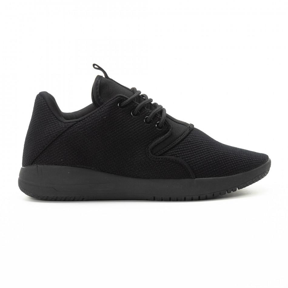 Ανδρικά μαύρα αθλητικά παπούτσια ελαφρύ μοντέλο it301118-4