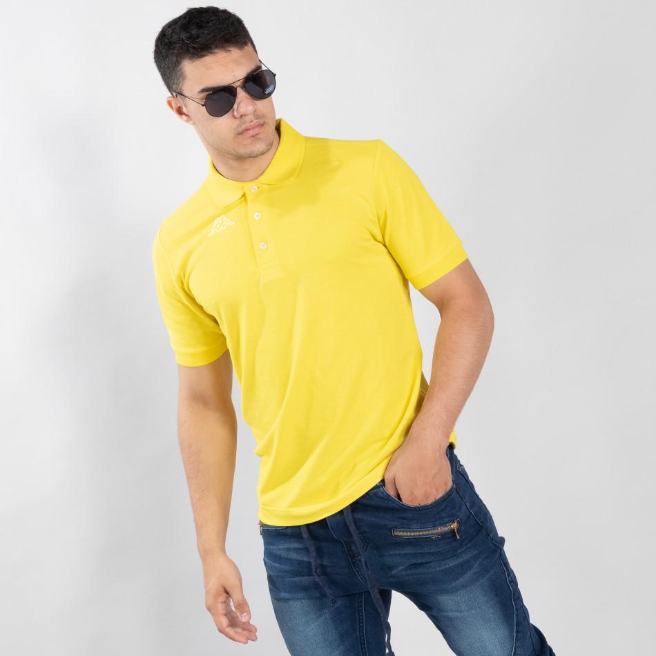 Ανδρική κίτρινη polo shirt Kappa regular fit it120619-21