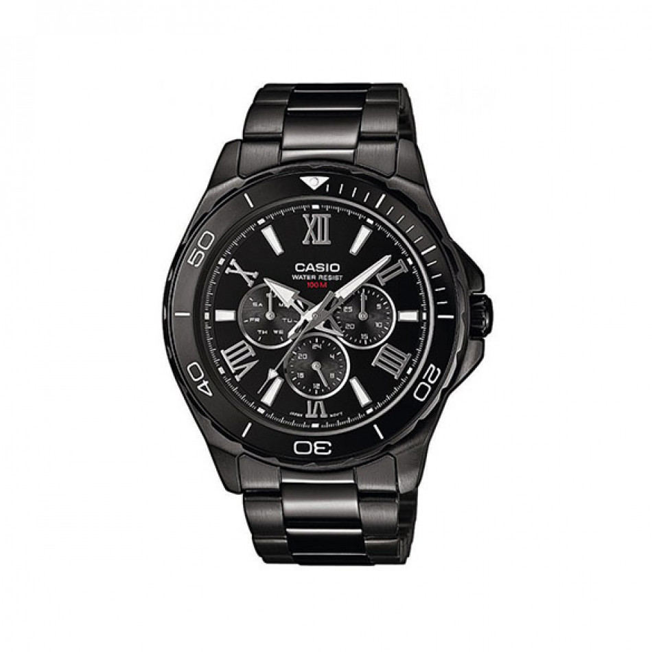 Ανδρικό ρολόι CASIO collection mtd-1075bk-1a1vef MTD1075BK1A1VEF