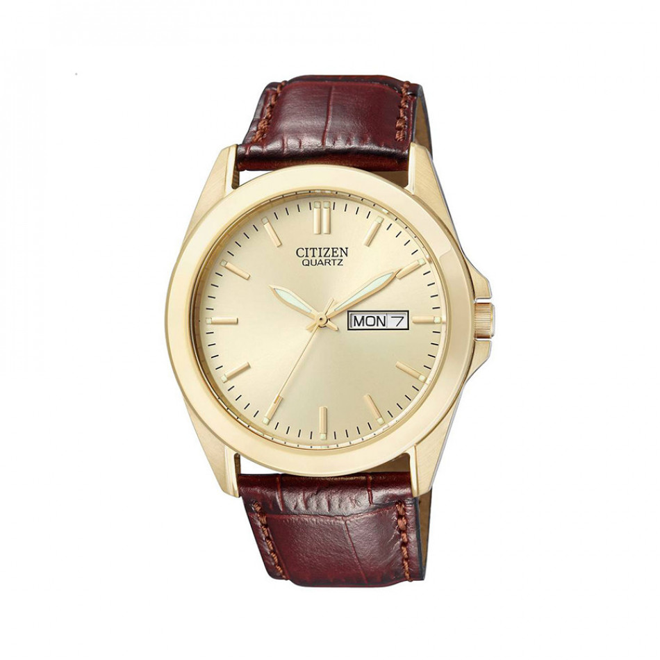 Ανδρικό ρολόι Citizen Elegant Gold Case Brown Leather  BF0582 01PE
