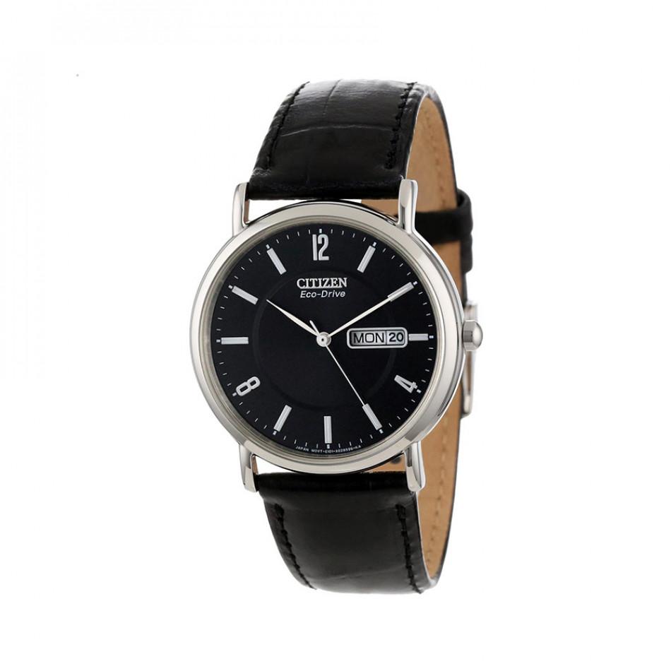 Ανδρικό ρολόι Citizen ECO-DRIVE GTS Black Dial Black Leather BM8241-01E BM8241 01E/Cal. E101