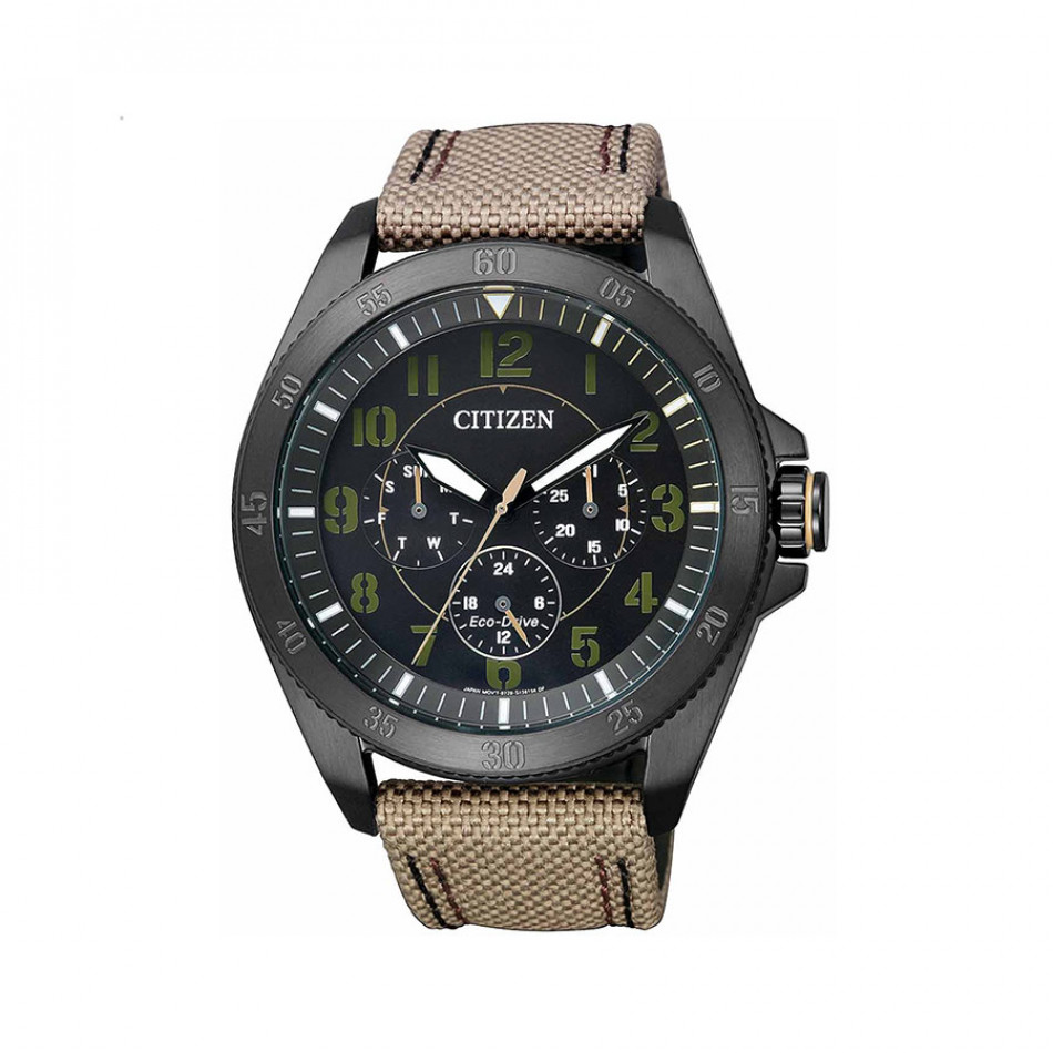 Ανδρικό ρολόι Citizen Eco-Drive Military Black IP BU2035-05E BU2035 05E/Cal. 8729