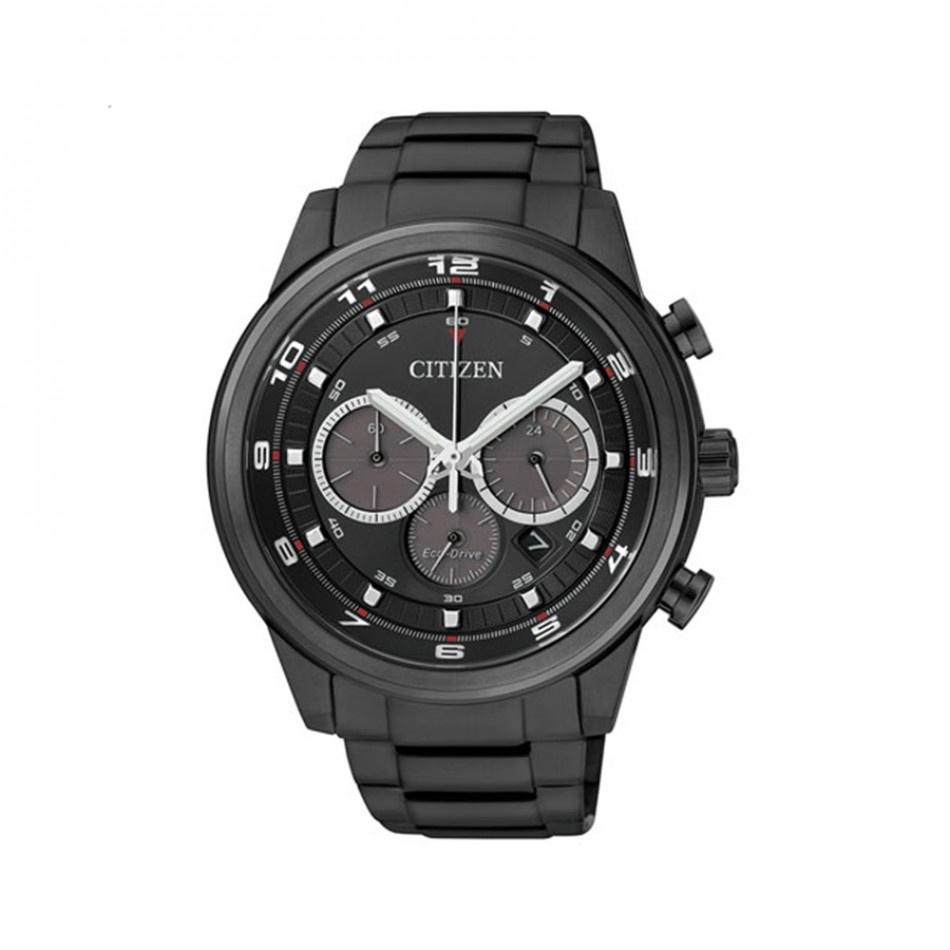 Ανδρικό ρολόι Citizen Black Eco-Drive Chronograph  CA4035 57E