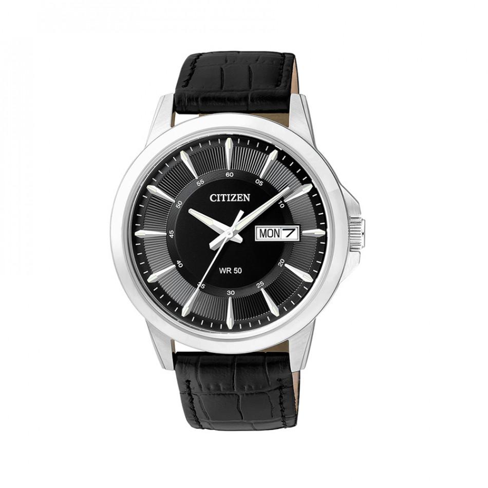 Ανδρικό ρολόι Citizen Black Dial Black Leather BF2011-01EE BF2011-01EE