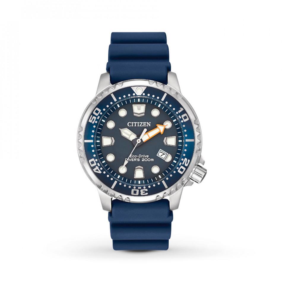 Ανδρικό ρολόι Citizen Gts Promaster-Marine Blue Dial Blue Rubber BN0151-17L BN0151-17L