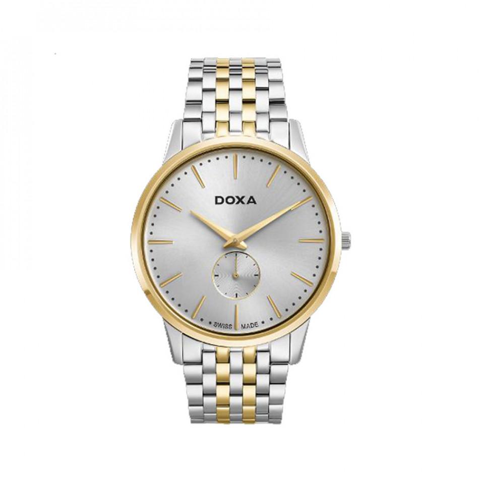 Ανδρικό ρολόι Doxa Slim Line Silver Dial Two-Toned  D155TWH