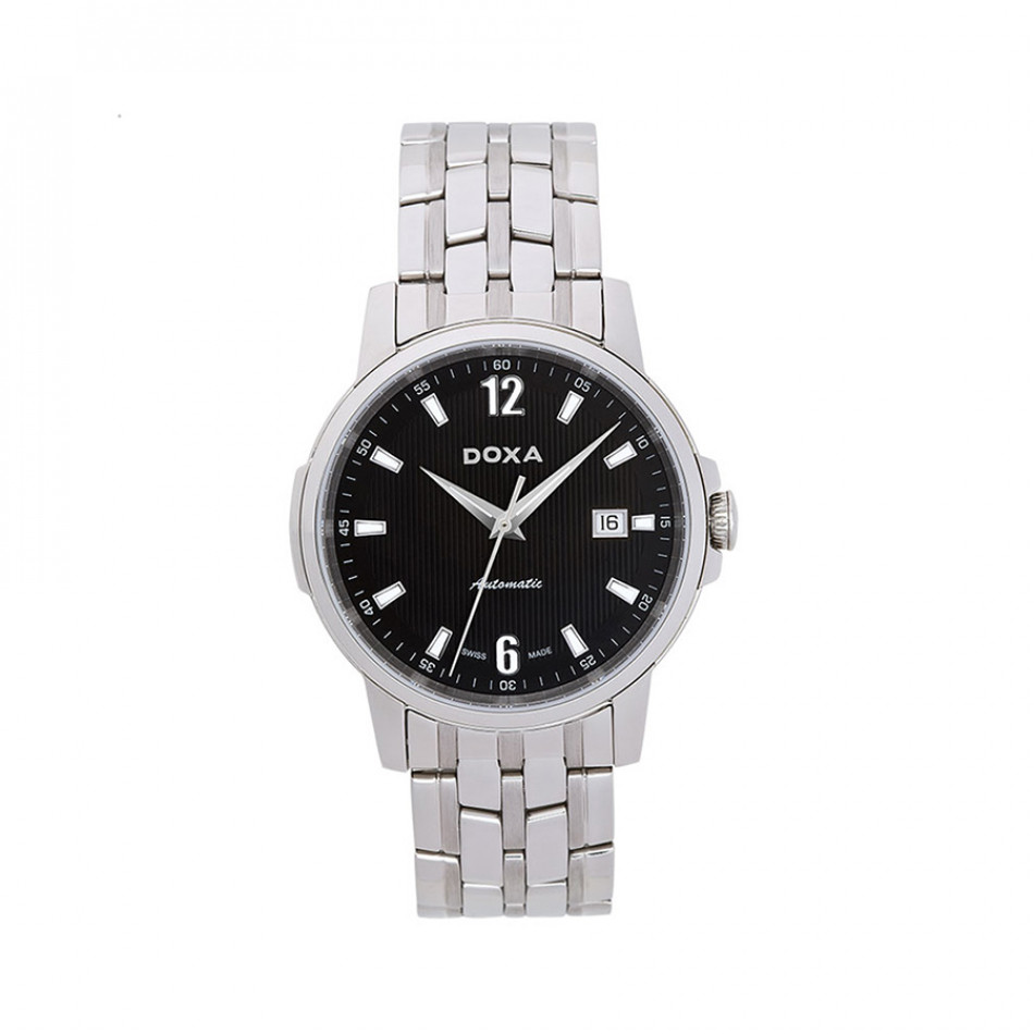 Ανδρικό ρολόι Doxa Ethno Automatic Black Dial Stainless Steel  2051010310