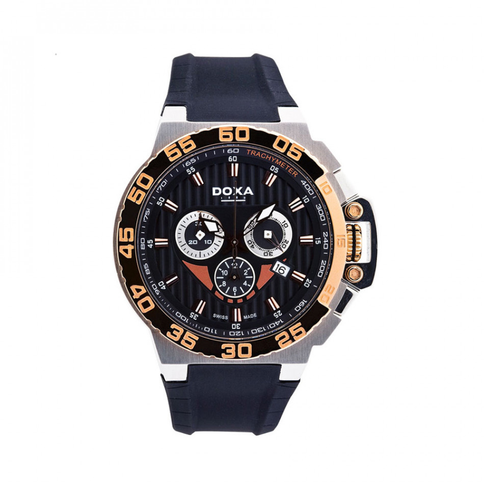 Ανδρικό ρολόι Doxa SPLASH GENT CHRONO Black Dial Watch 70010R06120