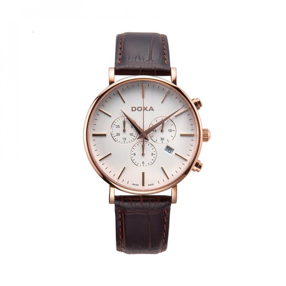 Ανδρικό ρολόι Doxa D-Light Rose Gold Plated Chronograph Watch 1729001102