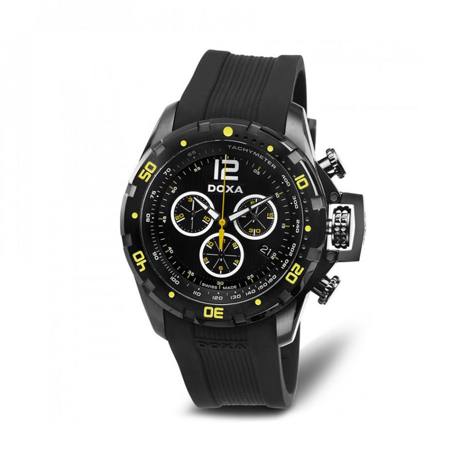 Ανδρικό ρολόι Doxa Water N'Sports Black Chronograph 7037008320