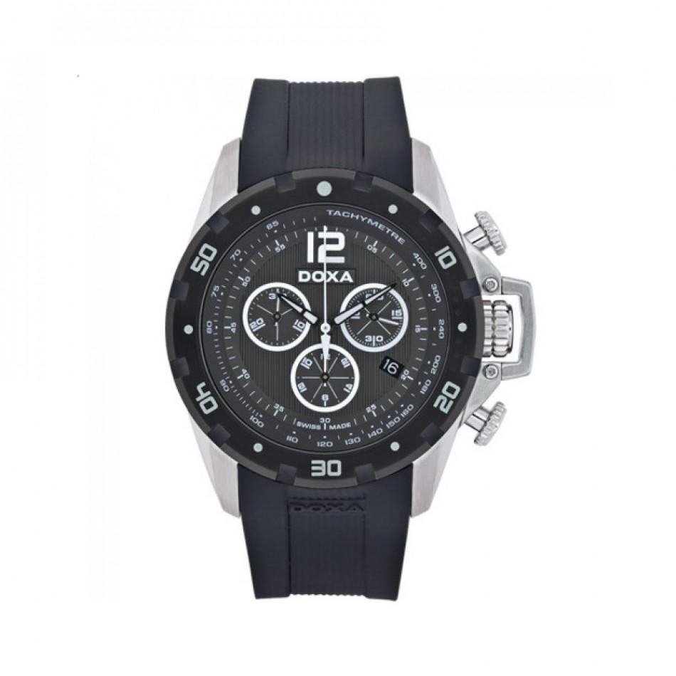 Ανδρικό ρολόι Doxa Water N'Sports Black Quartz Chronograph  7038010320