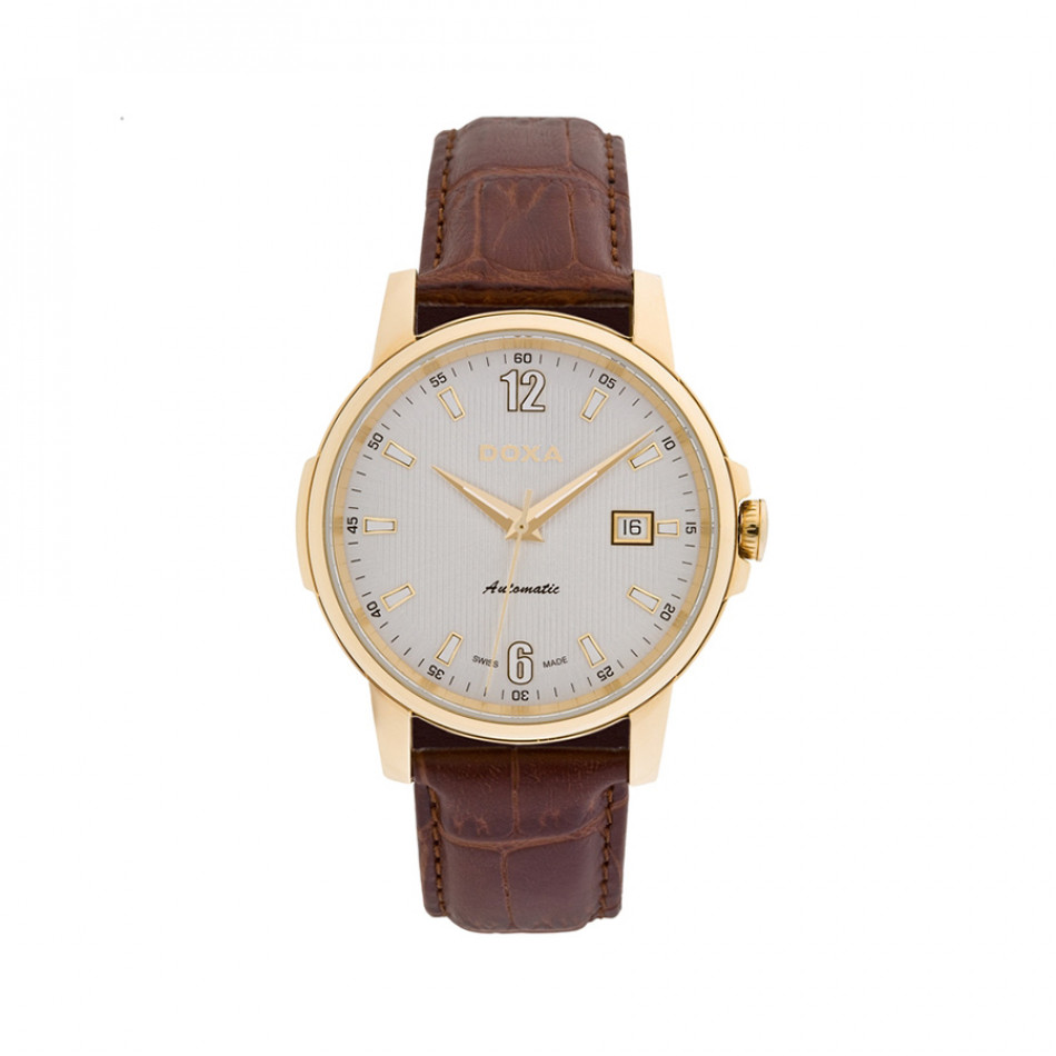 Ανδρικό ρολόι Doxa Ethno Automatic Gold Brown Leather  2053002302