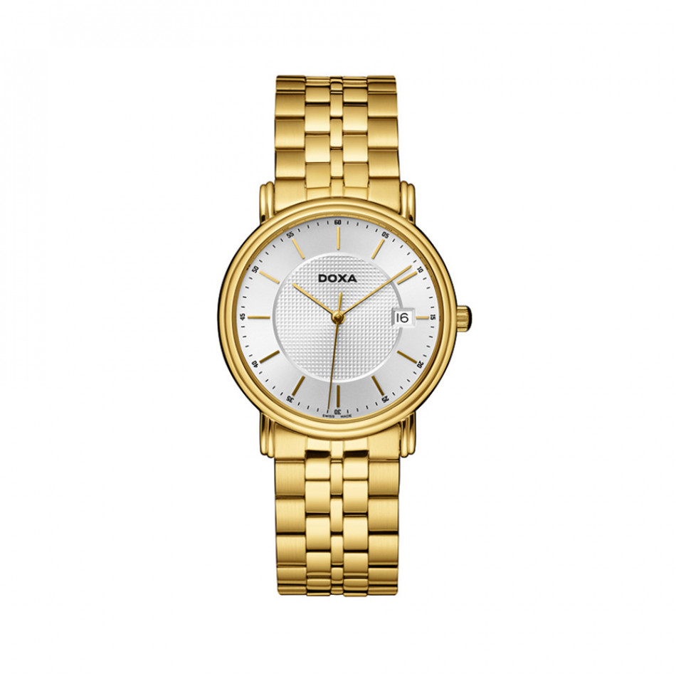 Ανδρικό ρολόι Doxa Royal PVD Gold WHite Dial  2213002111
