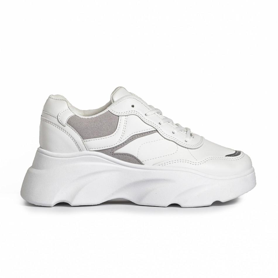 Γυναικεία λευκά αθλητικά παπούτσια FM it280820-17