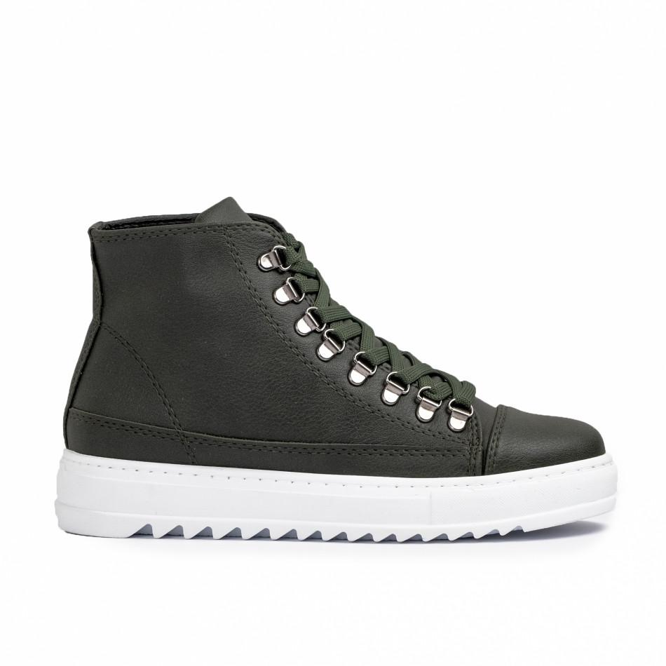 Ανδρικά πράσινα sneakers Trekking design tr181120-4