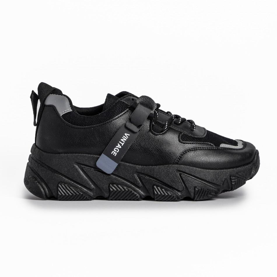 Γυναικεία μαύρα αθλητικά παπούτσια FM it280820-12