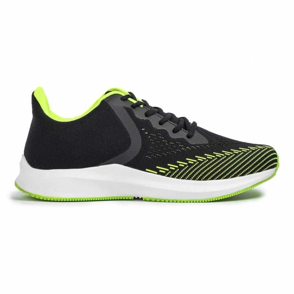 Ανδρικά μαύρα αθλητικά παπούτσια Kiss GoGo it260620-5