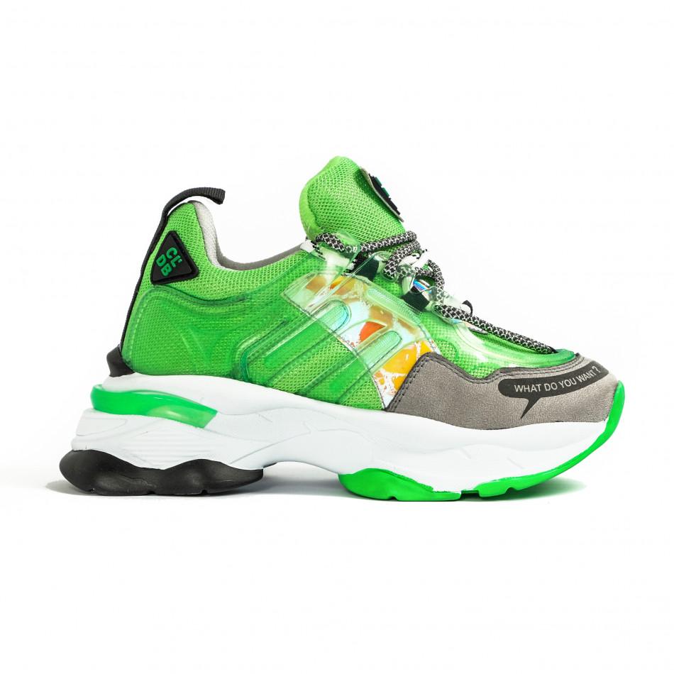 Γυναικεία πράσινα sneakers Sense8 tr240320-1