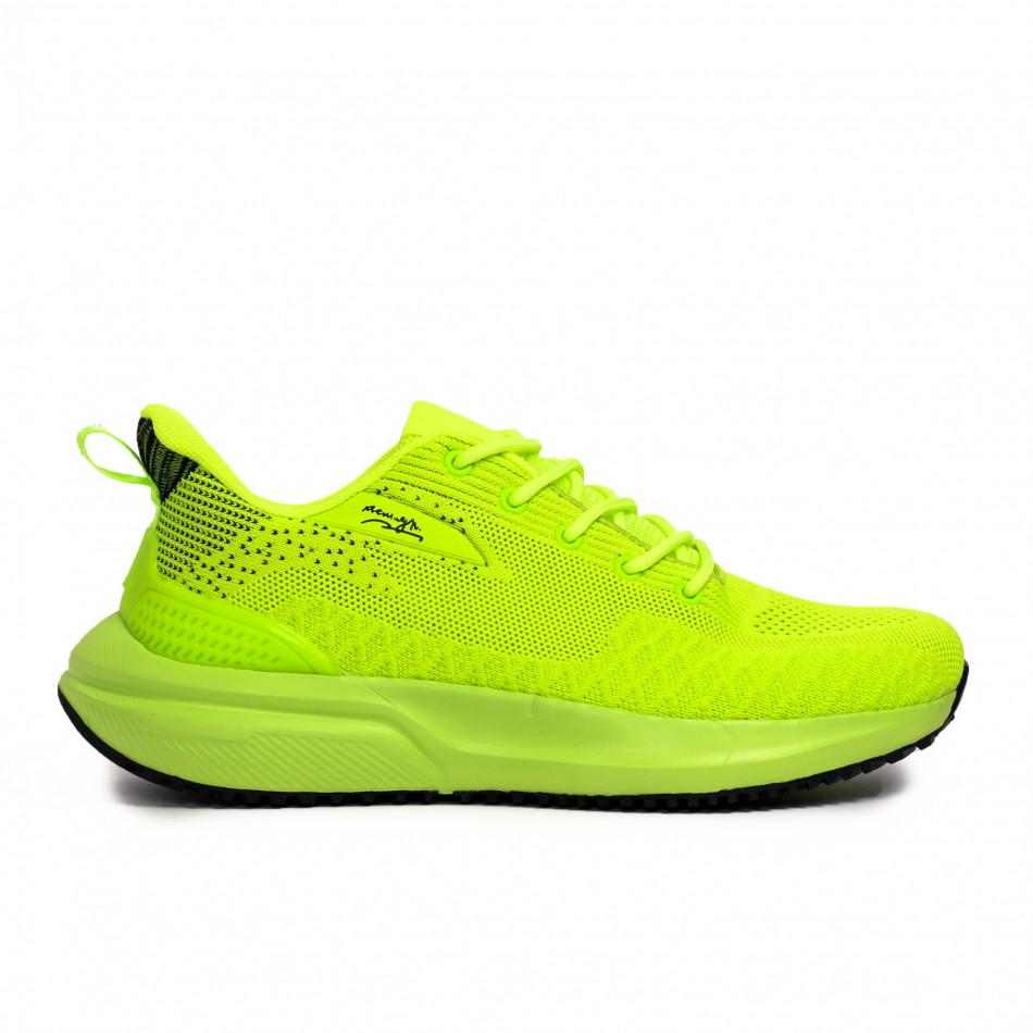 Ανδρικά πράσινα sneakers σε υφή it090321-6