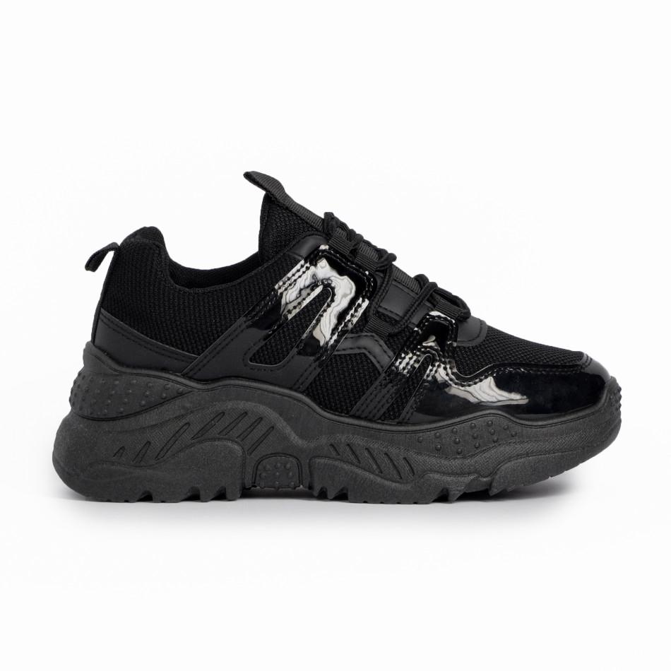 Γυναικεία μαύρα αθλητικά παπούτσια FM it280820-4