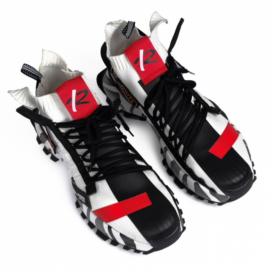 Destructured Chunky ανδρικά λευκά sneakers gr020221-15