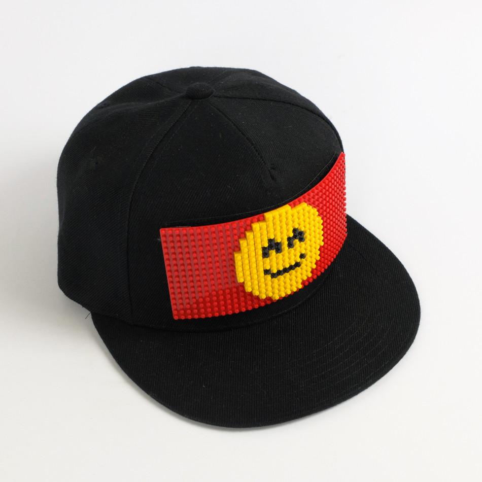 Ανδρικό μαύρο καπέλα FM it080520-82