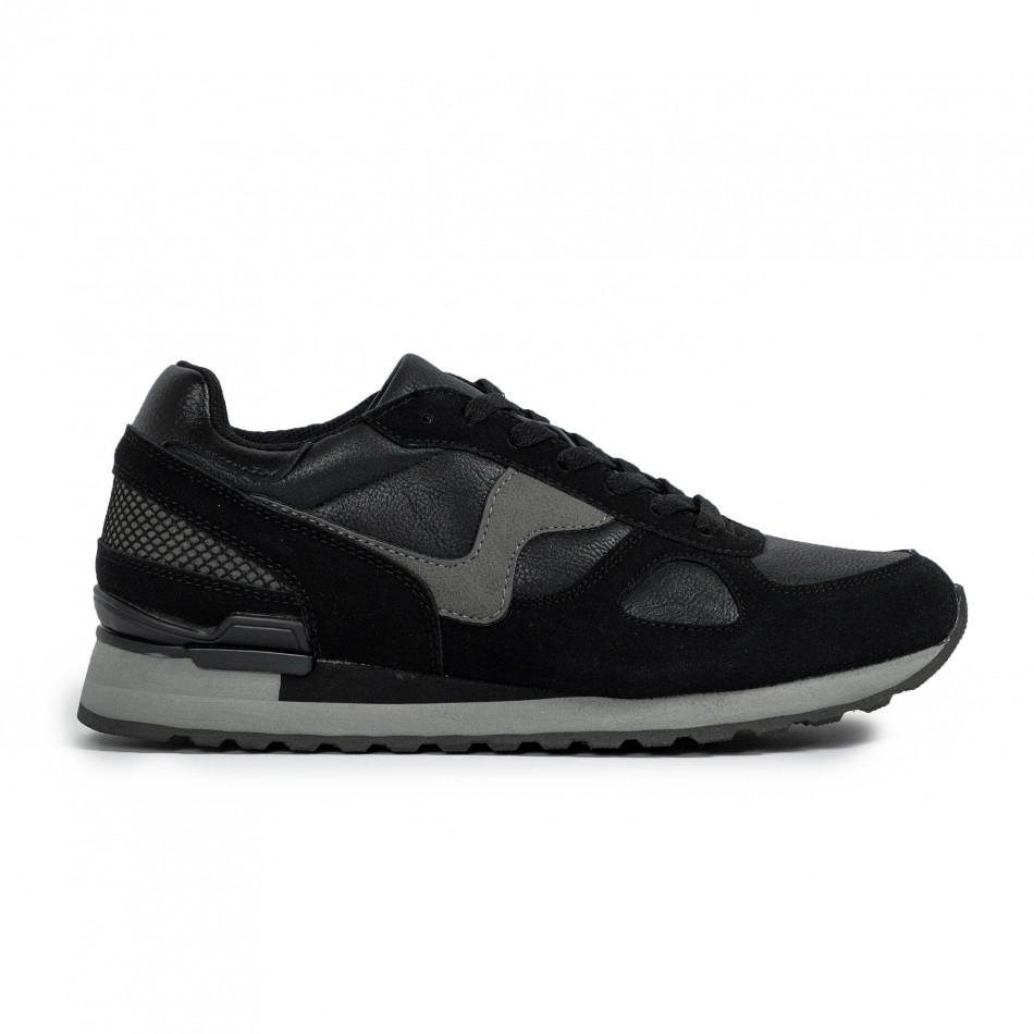 Ανδρικά μαύρα αθλητικά παπούτσια Flair it300920-53