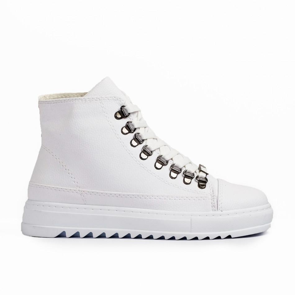 Ανδρικά λευκά sneakers Trekking design tr181120-5