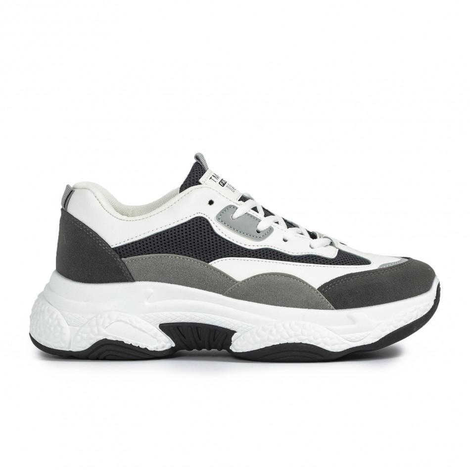 Ανδρικά γκρι αθλητικά παπούτσια Chunky it300920-55