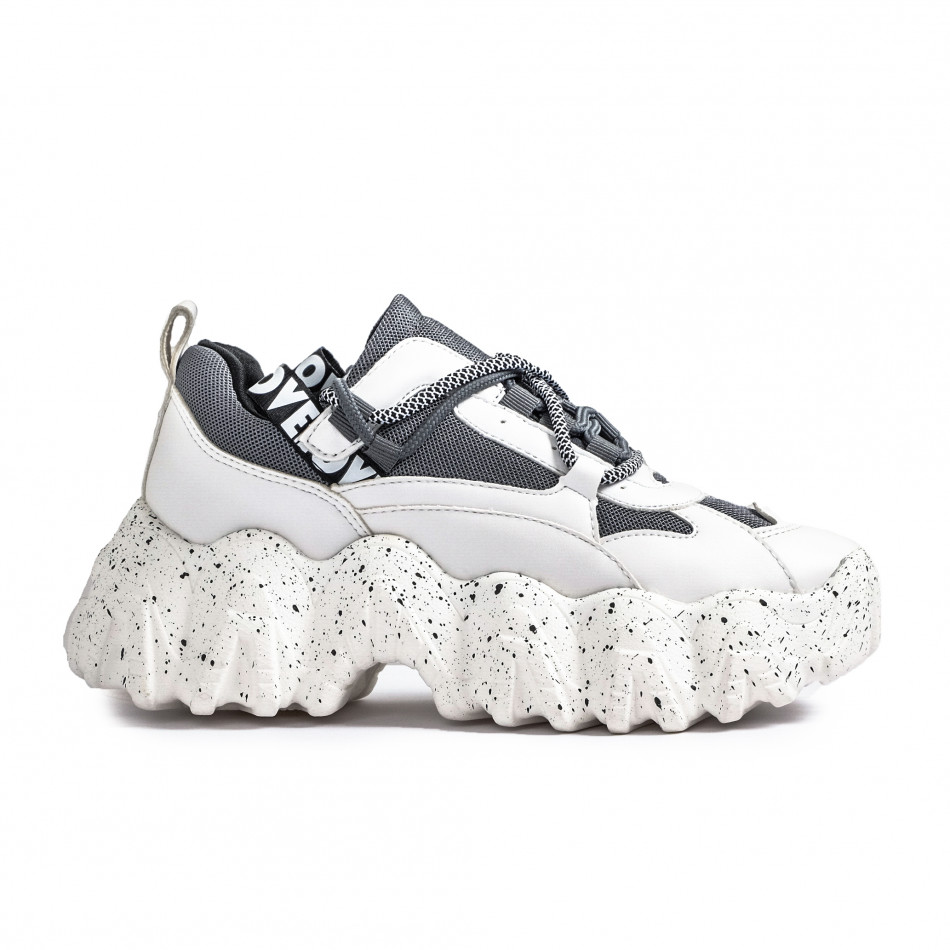 Sneakers Ultra Sole σε λευκό και γκρι it261020-6