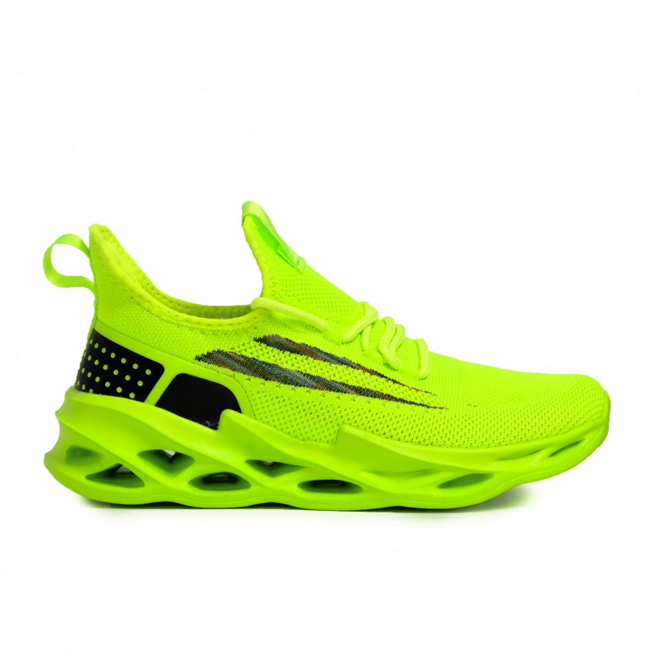 Ανδρικά πράσινα sneakers Chevron it090321-1
