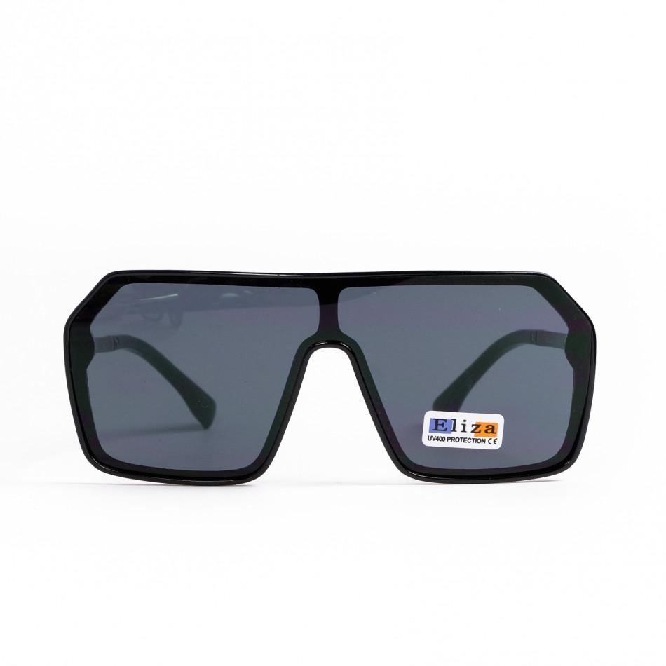 Ανδρικά μαύρα γυαλιά ηλίου μάσκα il200521-16