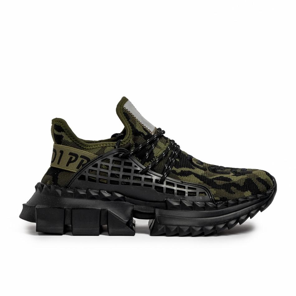 Ανδρικά καμουφλαζ sneakers Cubic it090321-8