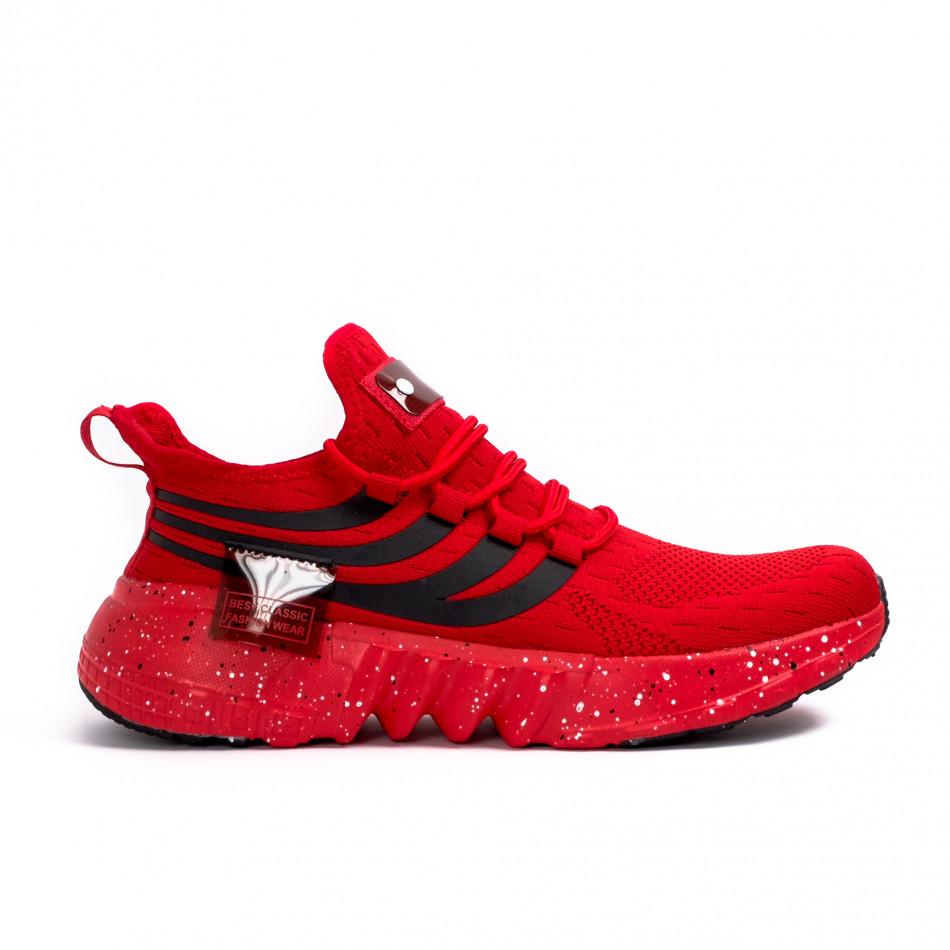 Ανδρικά κόκκινα αθλητικά παπούτσια Kiss GoGo it180621-3