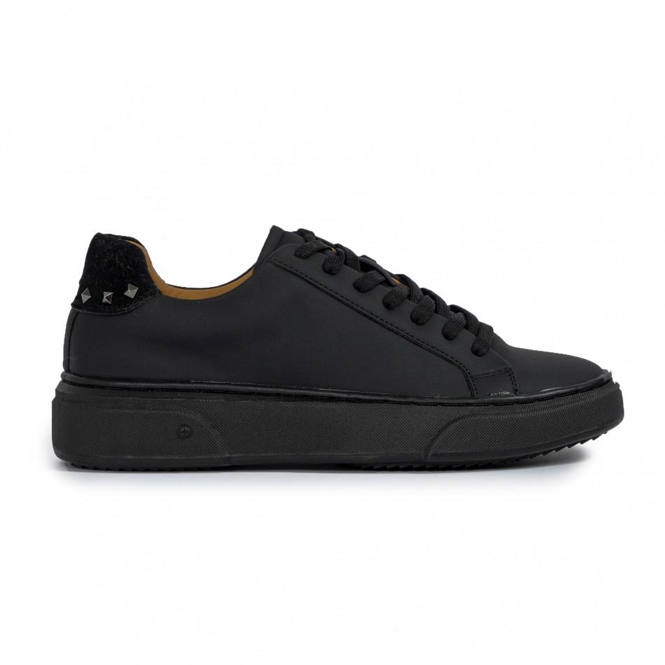 Ανδρικά μαύρα sneakers All black it300920-57