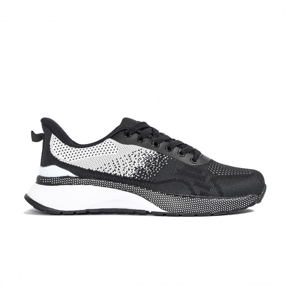Ανδρικά αθλητικά παπούτσια σε μαύρο και λευκό  it270320-19