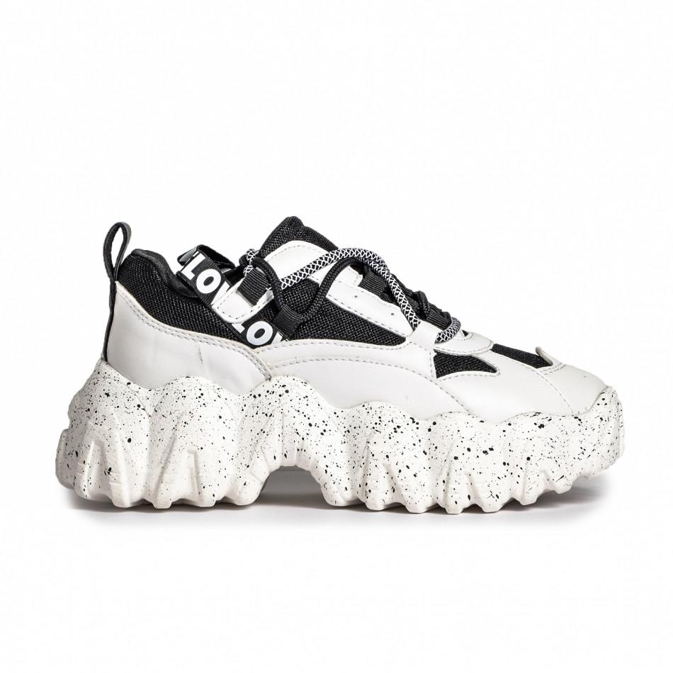 Sneakers Ultra Sole σε λευκό και μαύρο it280820-22