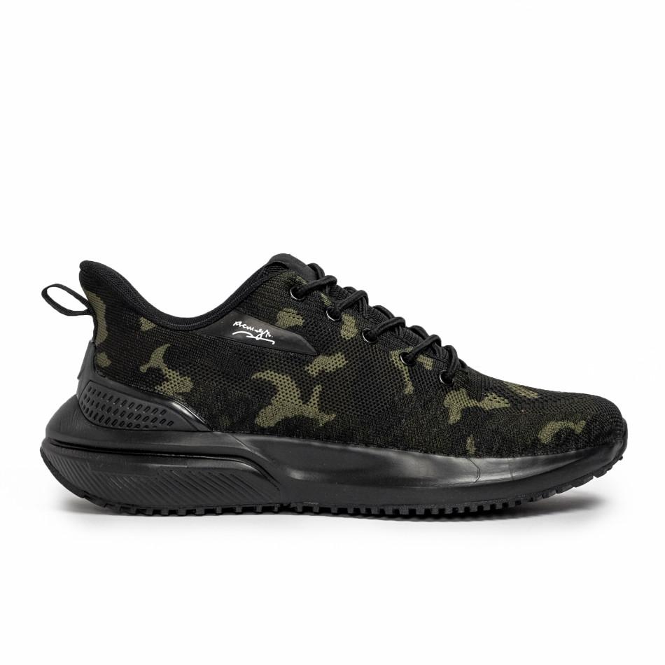 Ανδρικά καμουφλαζ sneakers σε υφή it090321-4