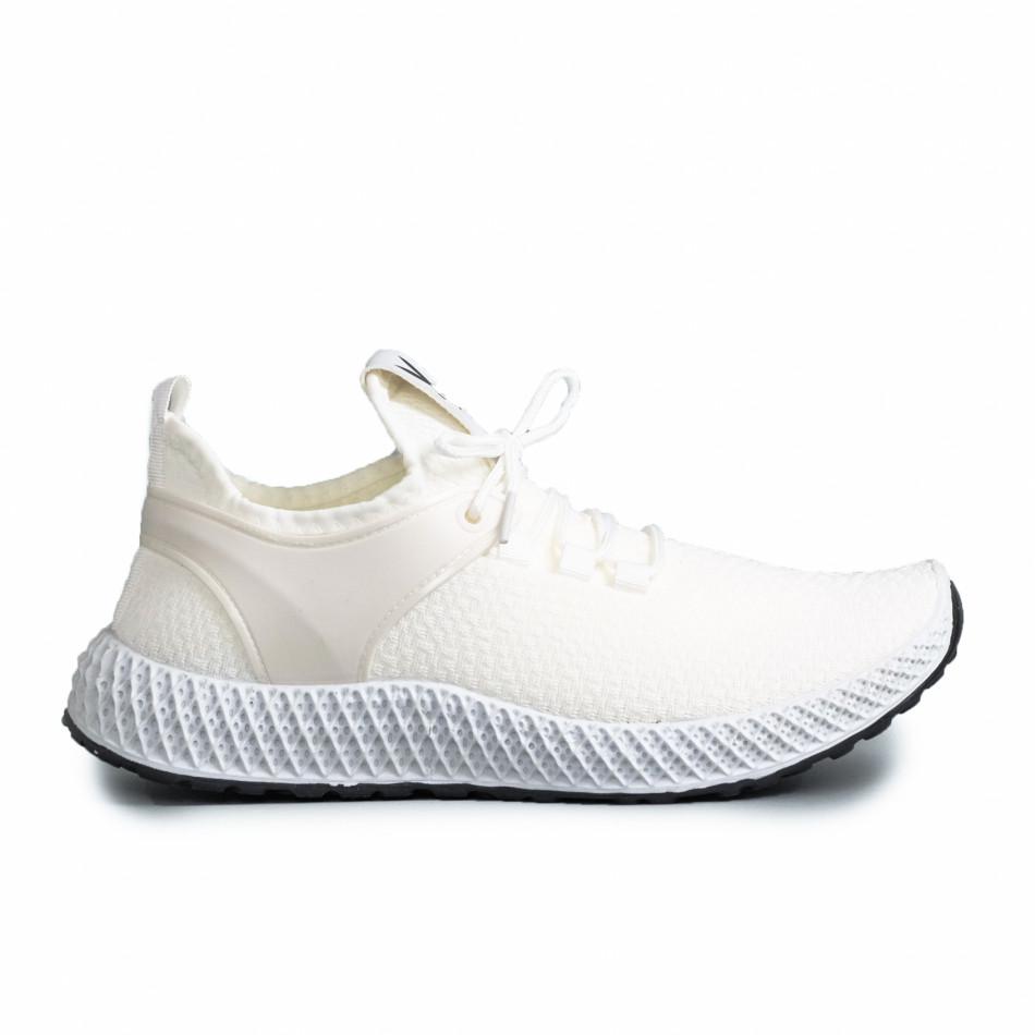 Ανδρικά λευκά αθλητικά παπούτσια Fashion gr270421-28
