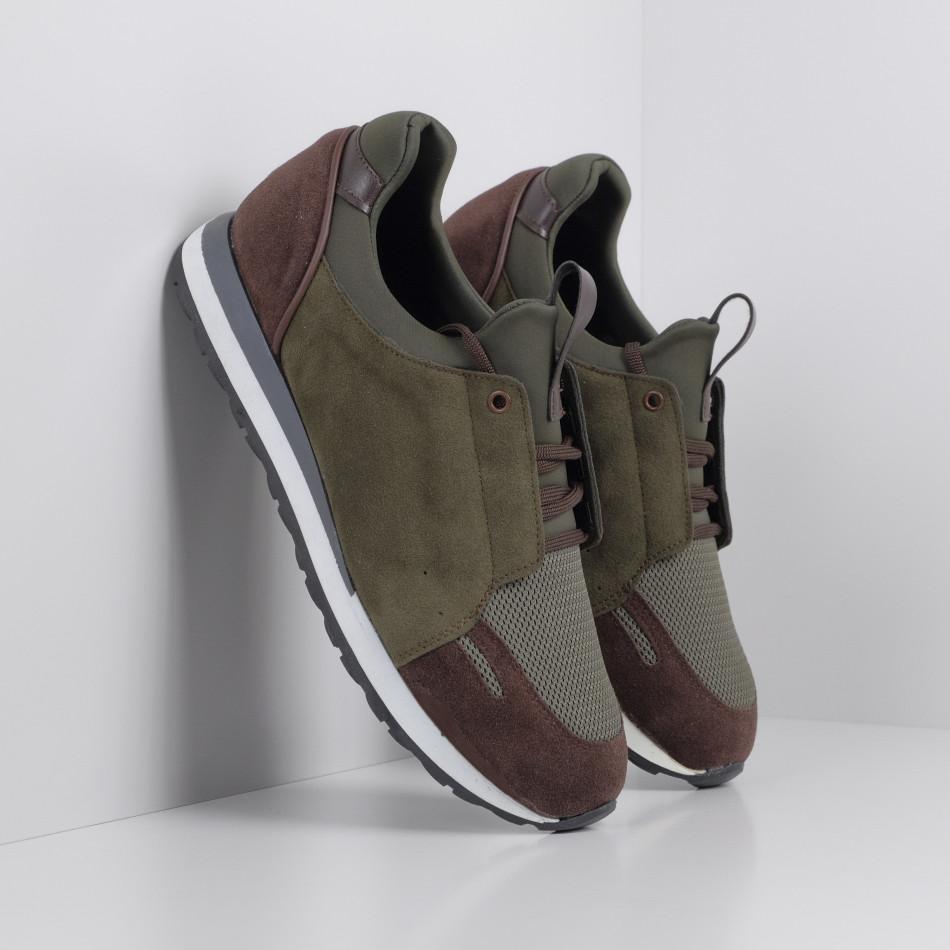 Ανδρικά πράσινα αθλητικά παπούτσια FM tr180320-32